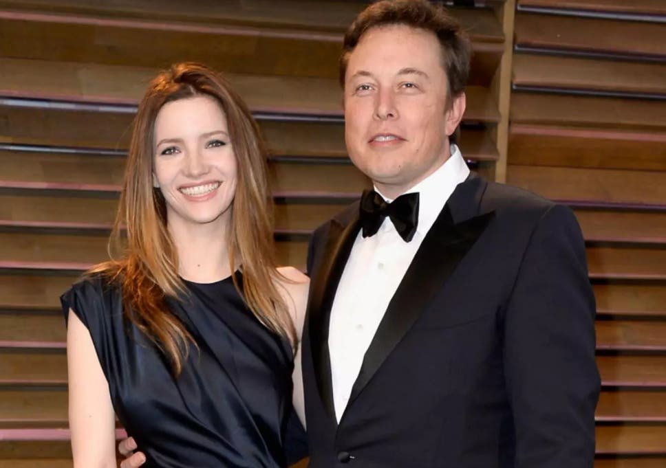 Elon Musk and his Wife